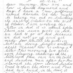 Hand written letter to mother from primary school-aged child
