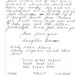 second page of hand written letter