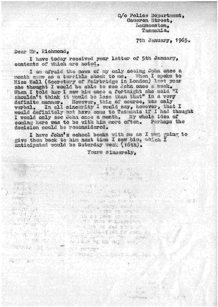 Typed letter