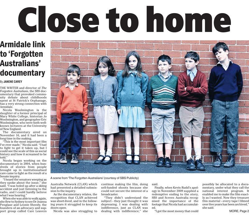 News story about Forgotten Australians
